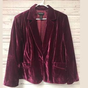 lane bryant Velour Jacket blazer Plus 18 18W 2X